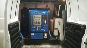 Water Damage Restoration Interior Of Van
